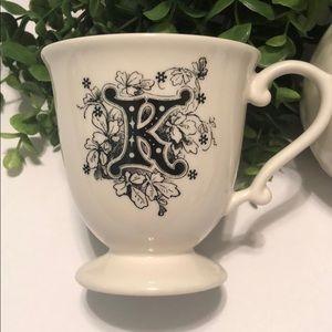 """Anthropologie Mug Letter """"K"""""""
